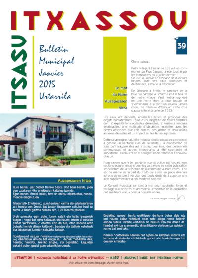Bulletin Itxassou 1er semestre 2015