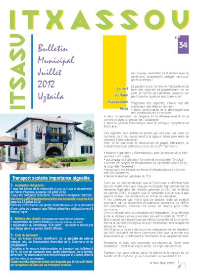 Bulletin Municipal Juillet 2012