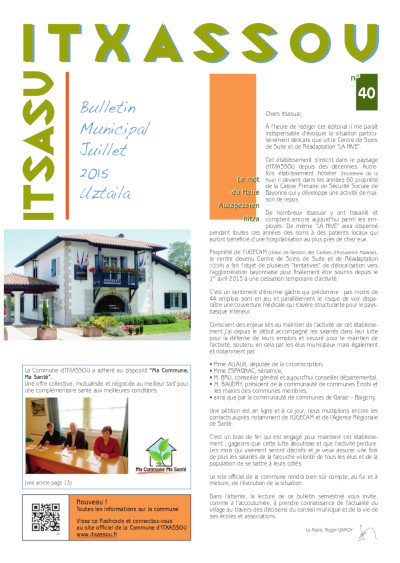 Bulletin dItxassou 19-06