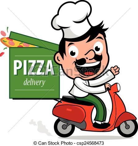 livraison-chef-cuistot-scooter-pizza-image csp24568473